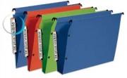 Pack de 10 dossiers suspendus PREMIUM opaque, fond V armoire bleu - Esselte