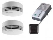 Pack détecteur de fumée et lampe flash - 2 détecteurs de fumée et 1 lampe flash vibrante