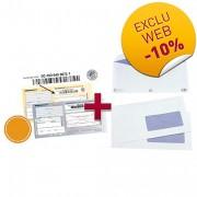 Pack enveloppes et recommandés - Boîte d'enveloppes 110 x 220 + 100 imprimés recommandés