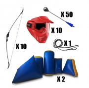 Pack équipements tag Archery - 10 arcs   -  50 flèches