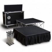 Scène compacte démontable - 6 m2 en modules 1 x 1 m - Moquette Deluxe