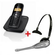 Pack Gigaset Téléphone sans fil et casque - Autonomie en convérsation : 20 heures