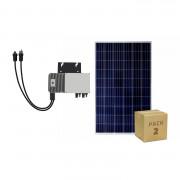 Pack Panneaux Solaire Photovoltaïque Polycristallin 320W BYD Class A + Micro-Onduleur 600W - Ce Panneau Solaire Photovoltaïque Polycristallin 320W est formé de cellules en silicium polycristallin qui génèrent une tension électrique élevée de 24V.