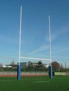 Paire buts de rugby en acier - Hauteurs (m) : 8 - 11 - 14.5 - Conformes à la norme NF S52-409