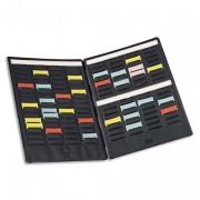 Paire de volets de couverture MINI-PLANNER 4 bandes de 17 fiches indice 1,5 - NOBO