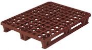 Palette à 9 plots avec rebord - Plancher plein avec rebord - Dimensions ext (L x l x H) : 1200 x 1000 x 147 mm