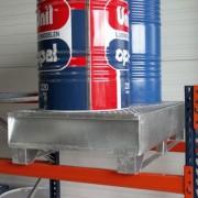 Palette à rétention à caillebotis amovible - Charge admissible : 1000 kg - Volume de rétention : 220 L