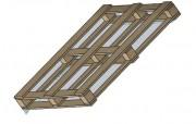 Palette bois 4 entrées - Perdue, économique - Largeurs : 280 ou 380 mm - Épaisseur : 15 mm
