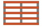 Palette bois demi lourde - Charge dynamique jusqu'à 1070 kg