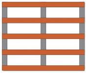 Palette bois légère 500 Kg - Charge dynamique jusqu'à 500 kg