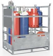 Palette bouteille de gaz acier - Palette en acier galvanisé pour le stockage et le transport de bouteilles de gaz