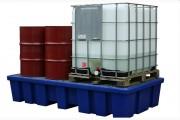 Palette de rétention à caillebotis - Volume : 1100 litres - 8 fûts