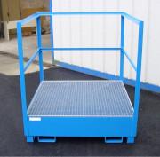 Palette de rétention en acier galvanisé - Capacité de rétention de 240 ou 440 litres