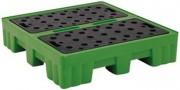 Palette de rétention multi emballage 240 L - Capacité : 215 à 450 Litres