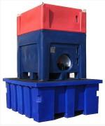 Palette de rétention pour container - Volume : 1050 - Nombre IBC: 1