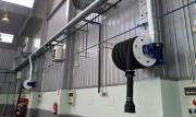 Enrouleur à ressort avec tuyau flexible - Semi-automatique