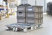 Palette flux embases roulantes - Palette métal pour transport Lean de chariots