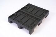 Palette industrielle rotomoulée - Plastique rotomoulé - Dimensions : 600 x 800 mm