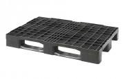 Palette plastique ajourée monobloc - Fabriquée en plastique - Charge statique : 4000 kg - Charge dynamique : 1000 kg