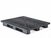 Palette plastique avec rebords - Dim l. x L.x H : 1100x1300x165 mm - Rebords en forme de L
