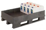 Palette plastique de rétention 120 litres - Palette plastique avec cuve de rétention, 25836