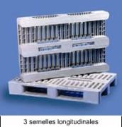 Palette plastique en rack - EURO H1  Réf. K48010205 Gris