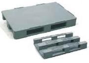 Palette plastique pleine 3 semelles - Charge admissible statique : 7500 kg