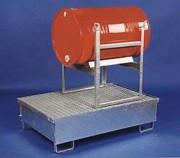 Palettes de rétention métalliques - En acier galvanisé à chaud - Capacité : 2 fûts