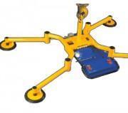 Palonnier à ventouses 100 à 300 Kg - Nombre de ventouses : 1 ou 4 - Charge maximale utile horizontale (kg) : De 100 à 300