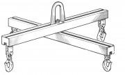 Palonnier de levage 1 à 100 Tonnes - Palonnier double (en croix)