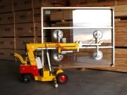 Palonnier manutention à ventouse sur chariot - Capacité levage jusqu'à 250 kg ou 500 kg