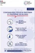 Pancarte gestes barrières COVID - Format paysage ou portrait - Bandes adhésives - PVC ou PS