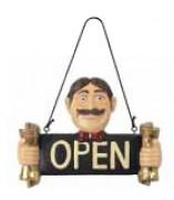 Pancarte ouvert fermé - Longueur (cm) : 31 - Hauteur (cm) : 22