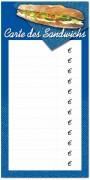 Pancarte pour restauration rapide - Dimensions (cm) :  60 x 30