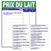 Pancarte prix du lait - Dimensions (cm) : 30 x 40