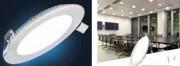 Panel LED rond extra plat - Panel LED encastré au plafond avec finition blanche