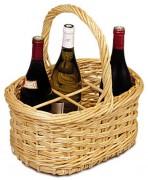 Panier à bouteille ovale en osier - Capacité : 6 bouteilles