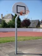Panier basket de rue panneau polyester - Conforme EN 1270-Panneau polyester-Hauteur 3m05 - DEPORT 0m60-Epaisseur 3mm