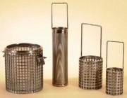 Panier cylindrique ou carré avec anse - Tôle perforée inox 304