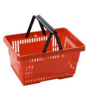Panier de magasin 22 litres 2 anses - Dimensions : 330 x 205 x 225 mm