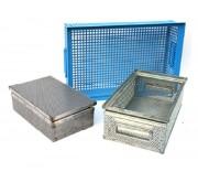 Panier gerbable rectangulaire pour stockage - Dimensions extérieures (L x l x H)  : 370 x 220 x 200 mm