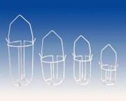 Panier porte sérum plastifié blanc CO 4540025R - CO 4540025R