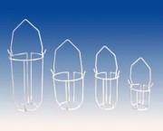 Panier porte sérum plastifié blanc CO 4540050R - CO 4540050R