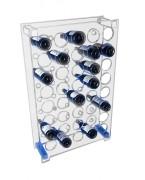 Panier range bouteille plexi - Dimensions (L x l) : 150 x 37 cm