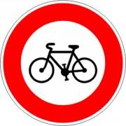 Panneau accès interdit au cycle B9b - Dimensions : de 450 à 1250 mm - Norme CE et NF - Type B