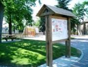 Panneau affichage bois 2x1 mètre - Panneau d'information