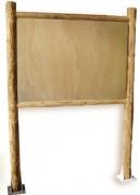 Panneau affichage en bois urbain - Hauteur totale : 2800 mm -  Poteaux ronds diamètre : 125 mm