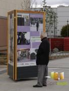 Panneau affichage mobile - 3 visuels - TRIO wood