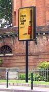 Panneau affichage sur mât et en drapeau - CM 101 & CD 101 - Format d'affichage 120x180