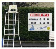 Panneau afficheur score tennis manuel